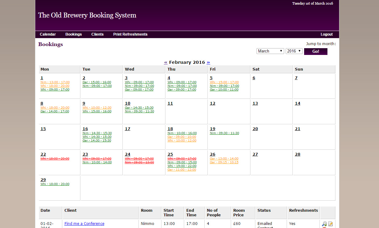 TOBBC Booking System